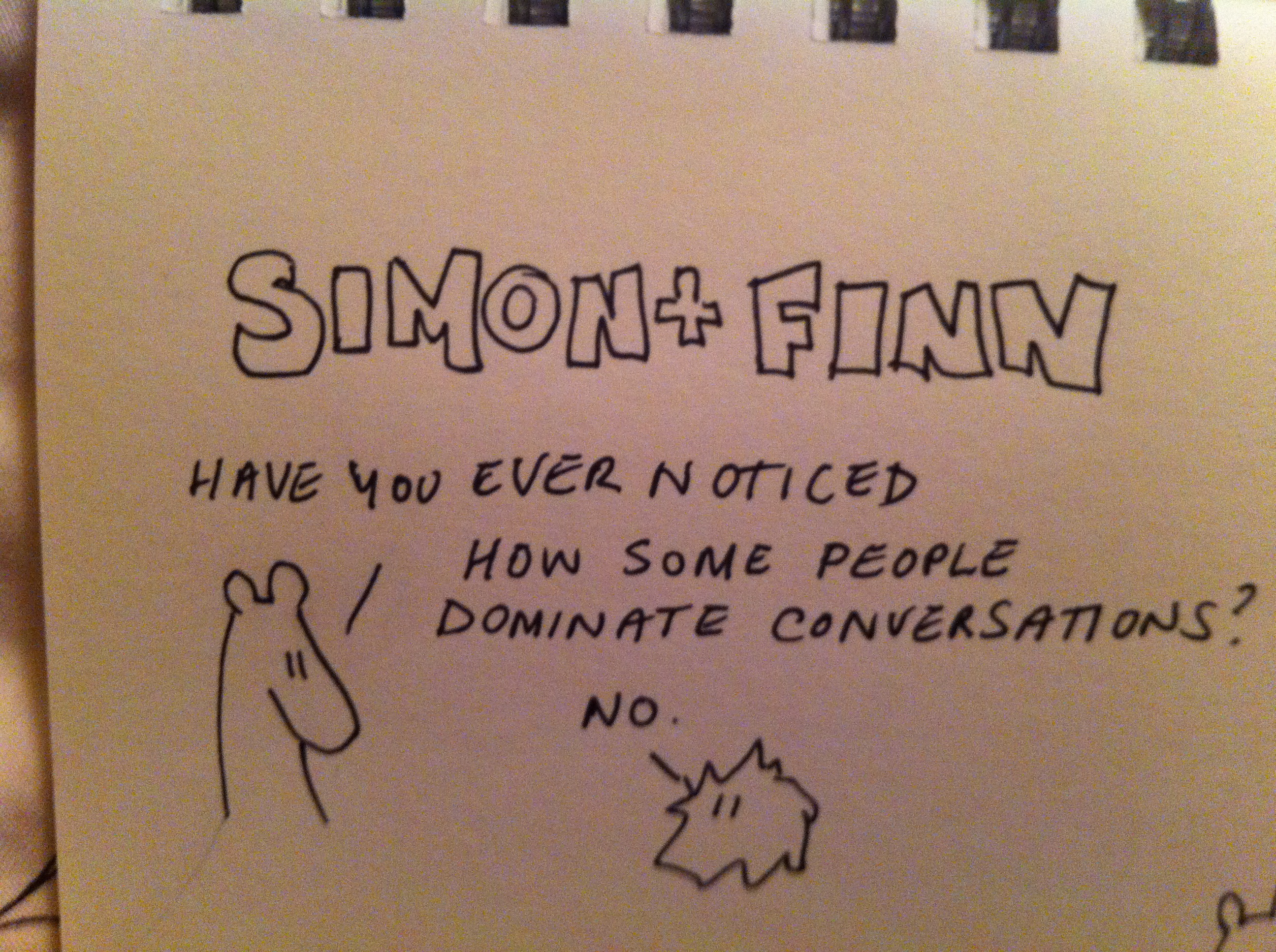 conversation narcissism | simonandfinn