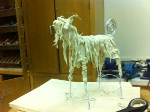 goat (paperclay) - felder